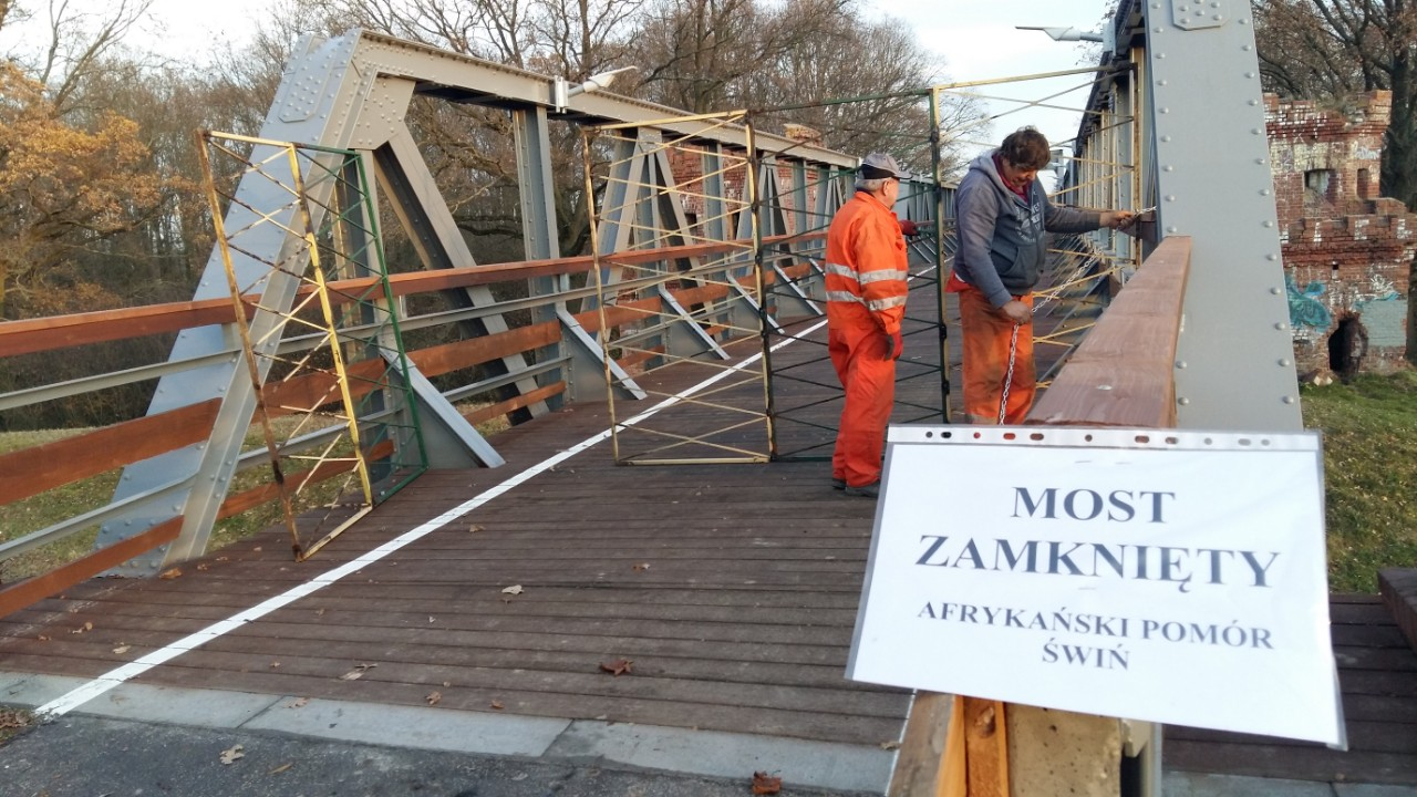 Ilustracja do informacji: Zamknięcie mostu na Odrze